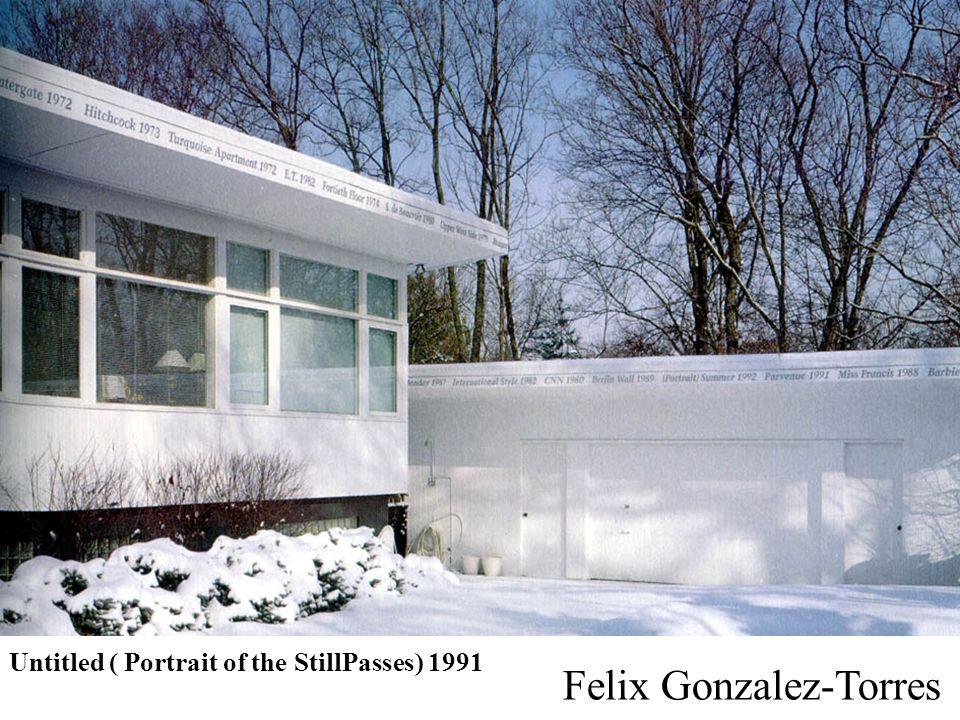 Untitled ( Portrait of the StillPasses) 1991 Felix Gonzalez-Torres