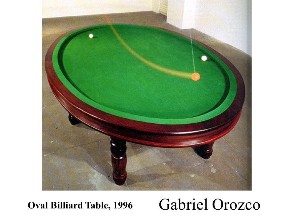 Oval Billiard Table, 1996