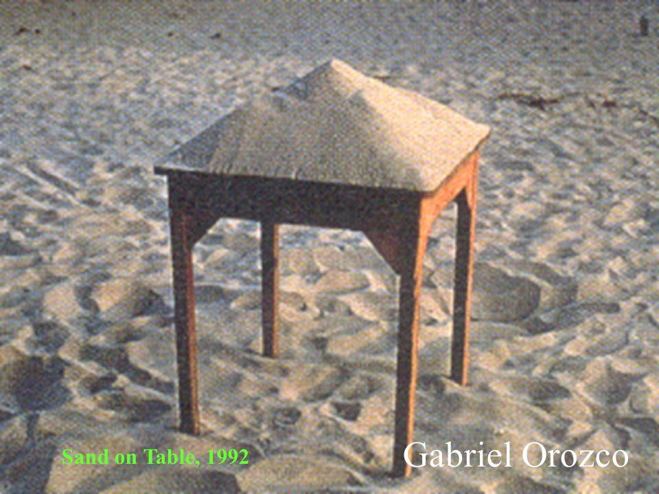 Gabriel Orozco Sand on Table, 1992