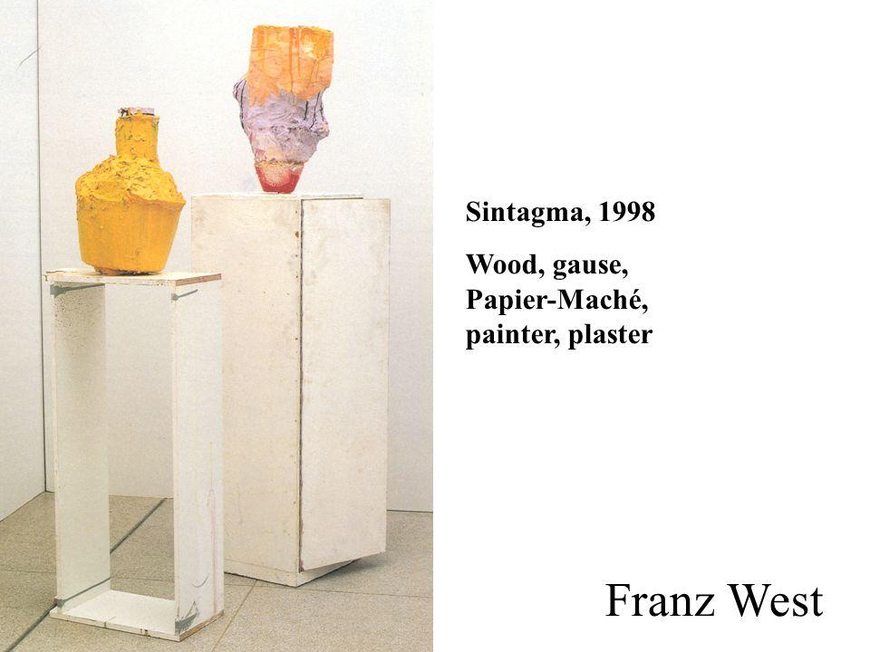 Sintagma, 1998 Wood, gause, Papier-Maché, painter, plaster