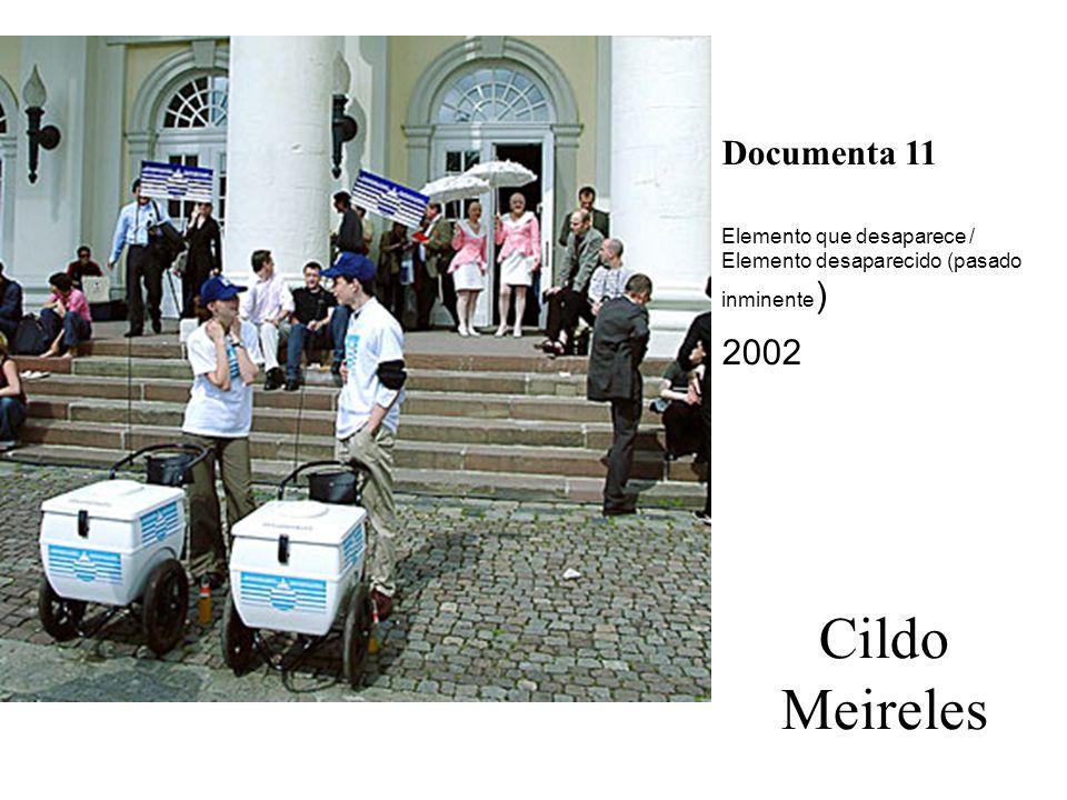 Cildo Meireles Documenta 11 Elemento que desaparece / Elemento desaparecido (pasado inminente ) 2002