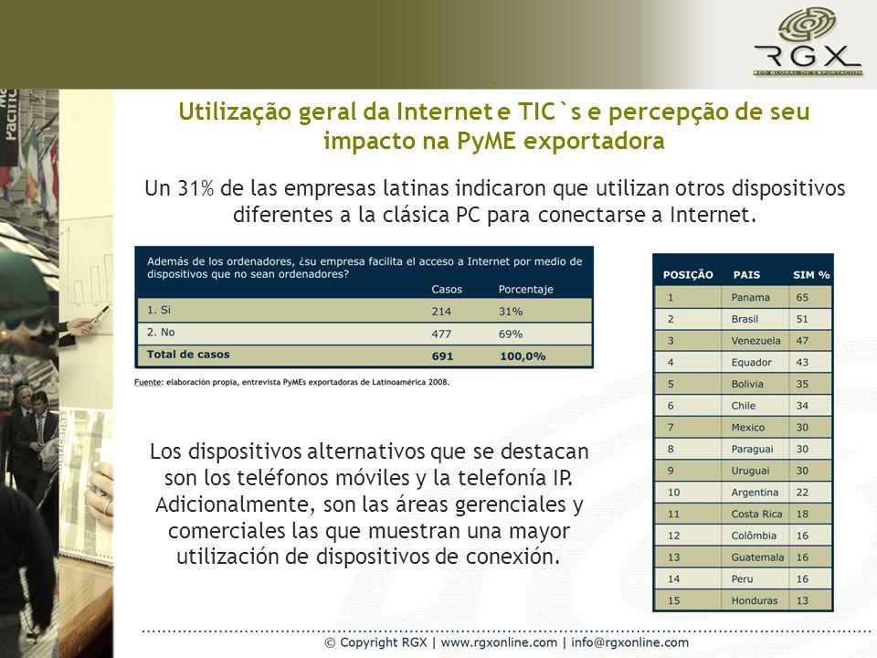 A Internet como ferramenta de promoção e marketing internacional 4 de cada 10 PyMEs exportadoras latinas promueven su negocio en el medio virtual.