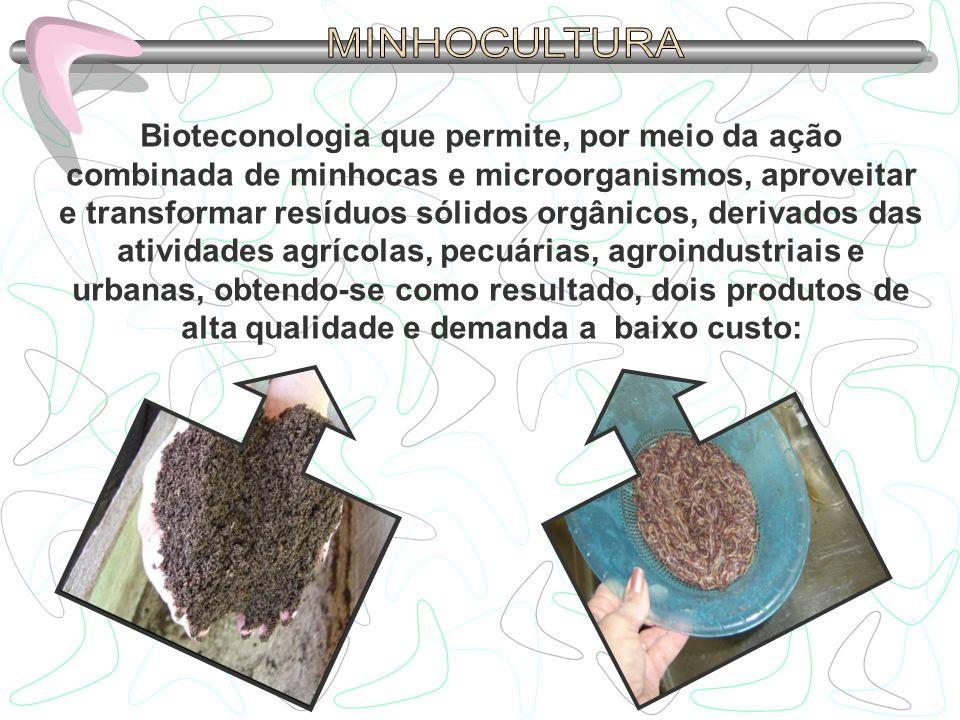 São bastante conhecidos os benefícios sobre usos de vermicomposto como adubo orgânico na produção agrícola, mas a qualidade intrínseca do vermicomposto é um tema pendente de mais informação científica.