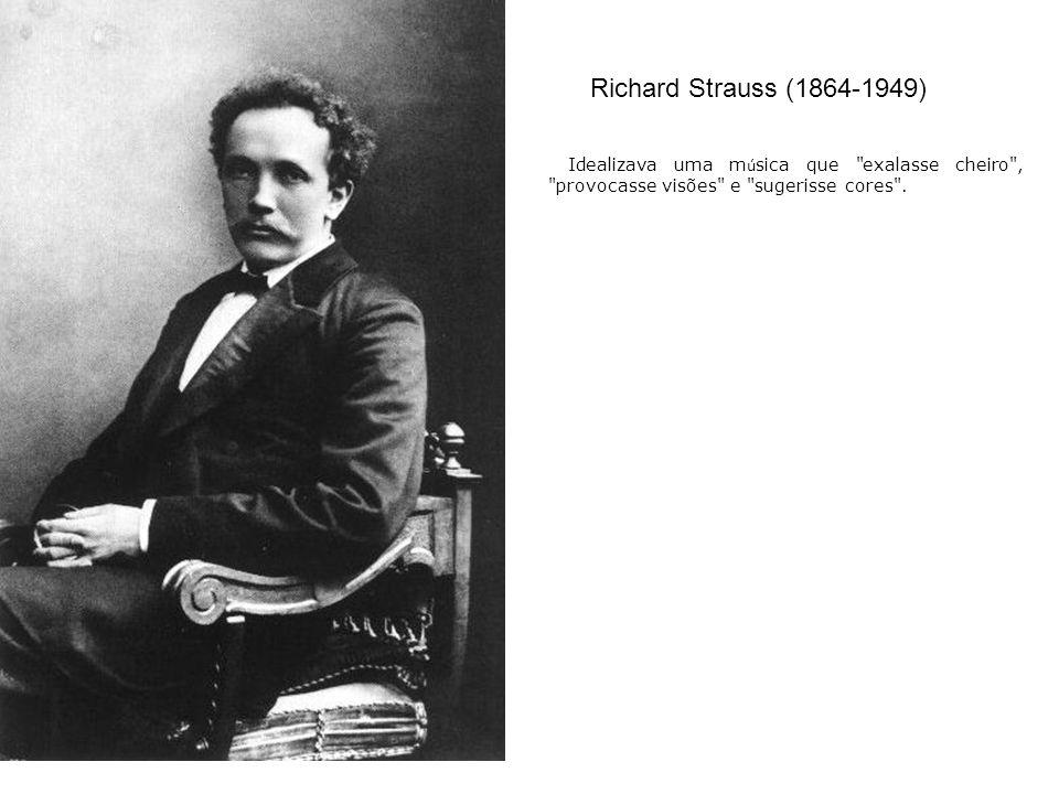 Richard Strauss (1864-1949) Idealizava uma m ú sica que