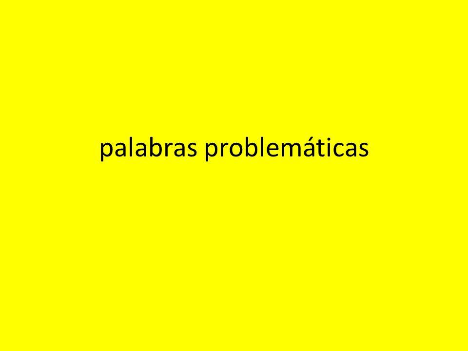 palabras problemáticas