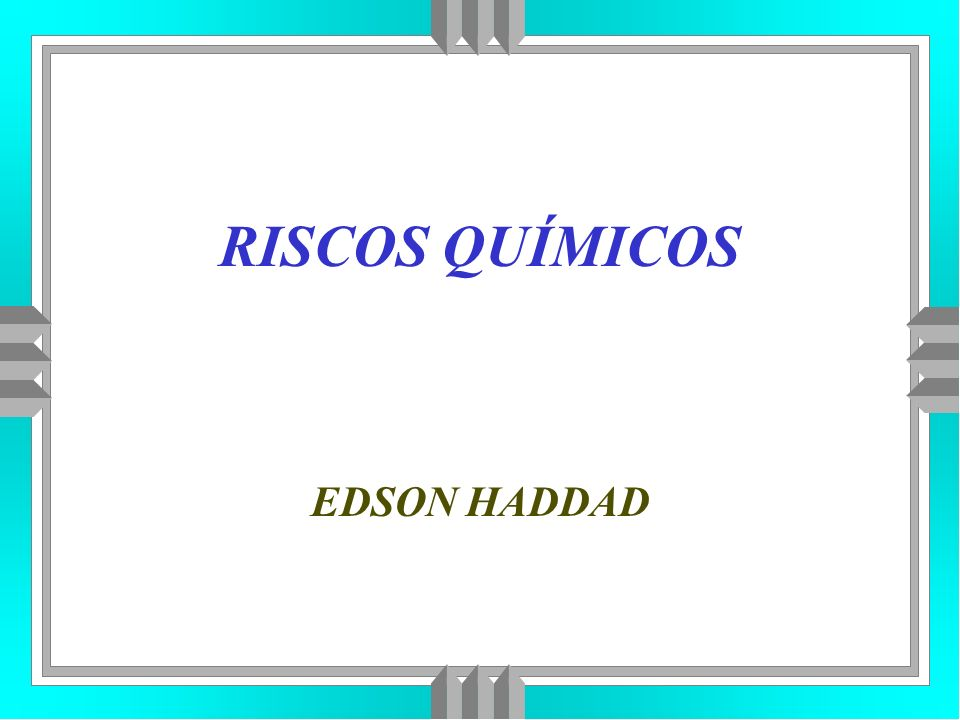 RISCOS QUÍMICOS EDSON HADDAD