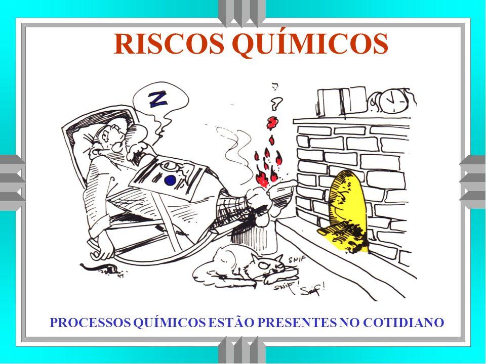 RISCOS QUÍMICOS REAÇÃO QUÍMICA : É A TRANSFORMAÇÃO DE UM PRODUTO EM OUTRO.