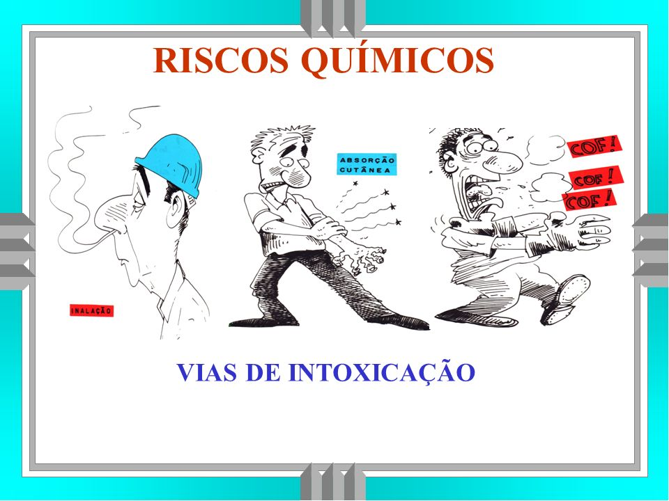 RISCOS QUÍMICOS VIAS DE INTOXICAÇÃO