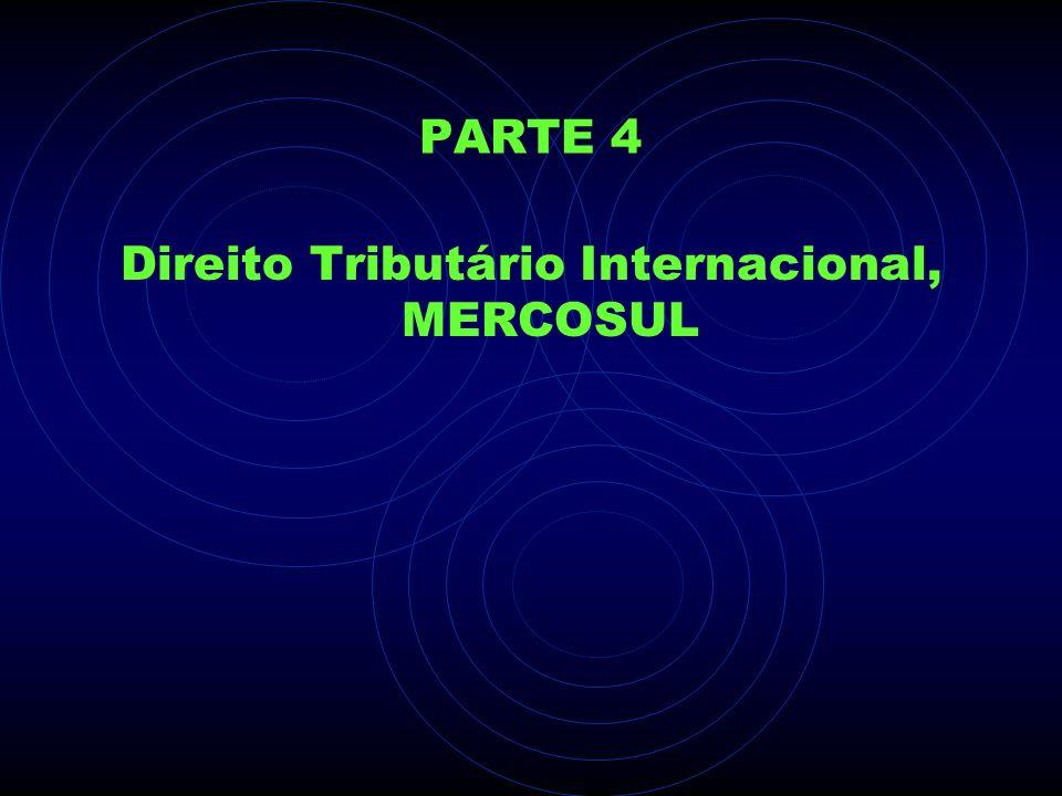 PARTE 4 Direito Tributário Internacional, MERCOSUL