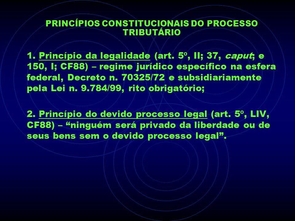 PRINCÍPIOS CONSTITUCIONAIS DO PROCESSO TRIBUTÁRIO 1. Princípio da legalidade (art. 5º, II; 37, caput; e 150, I; CF88) – regime jurídico específico na