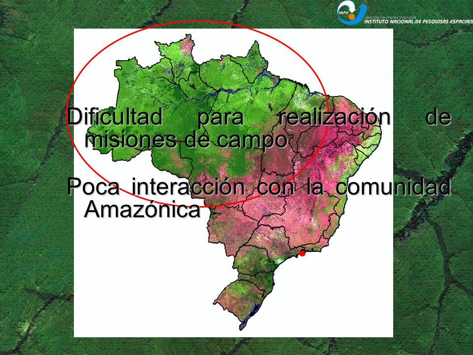 El INPE Amazonía será formado de 3 unidades: –1 – Unidad Belém: Actuar en el monitoreo satelital de la Amazonía Legal Brasileña.