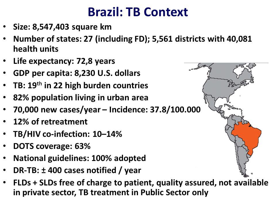 Cambios em el sistema de tratamiento de la TB en Brasil em 2009 2RHZE/4RH Cultura com ID e TS ao final do segundo mês quando Baciloscopia + VT Retratament o RC / RA Todo RT com cultura e TS 2RHZE/4RH FALÊNCIA Esquema de Falência bacteriológica 3SZELvf/TZ AM alternativo para não uso da SM 18 a 24 meses de duraçao MR falido ou TBXDR Esquema indivi- dualizado com 5 fármacos CM ETH CLZ PAS Tratamento só em referências credenciadas Esquema Pediátrico 2RHZ/4RH Em comprimidos dispersíveis Até haver FDCs 4 em 1 Para meningite: 2RHZE/7RH + Corticóide