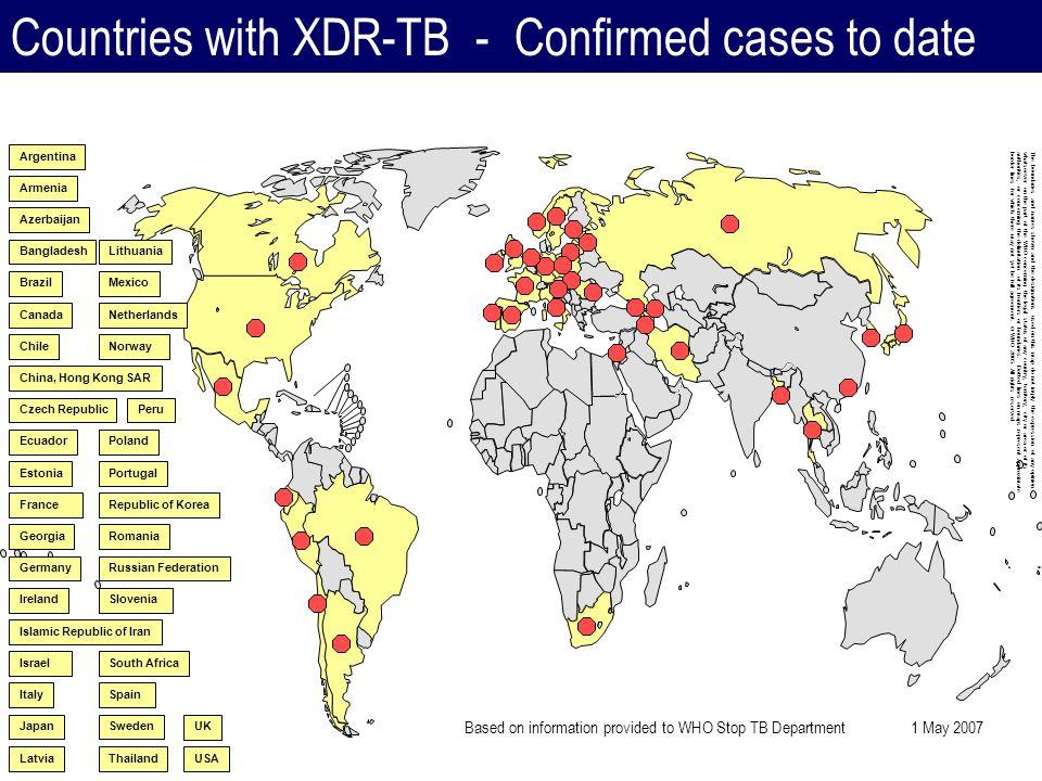 Tratamiento de la TB en Brasil en 2009 MR fallado ouTBXDR Esquema individual con 5 fármacos CM ETH CLZ PAS + 1 regimen de Falla Bacteriológica y TBMR 3SZELvf / TZ AM alternativa à SM 18 a 24 meses de duracion Retratamiento RC / RA Todo RT con cultivo y PS 2RHZE/4RH