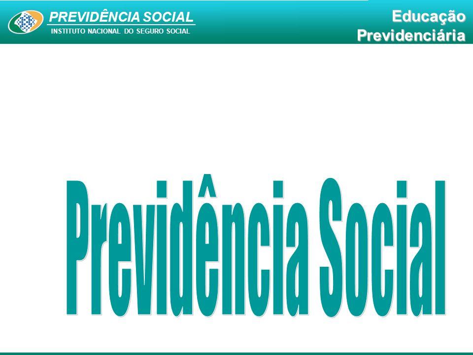 PREVIDÊNCIA SOCIAL INSTITUTO NACIONAL DO SEGURO SOCIAL EducaçãoPrevidenciária Carência 180 contribuições mensais = 15 anos APOSENTADORIA POR IDADE