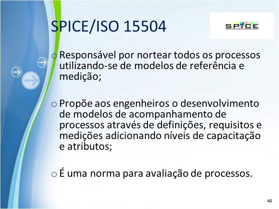 o Responsável por nortear todos os processos utilizando-se de modelos de referência e medição; o Propõe aos engenheiros o desenvolvimento de modelos d