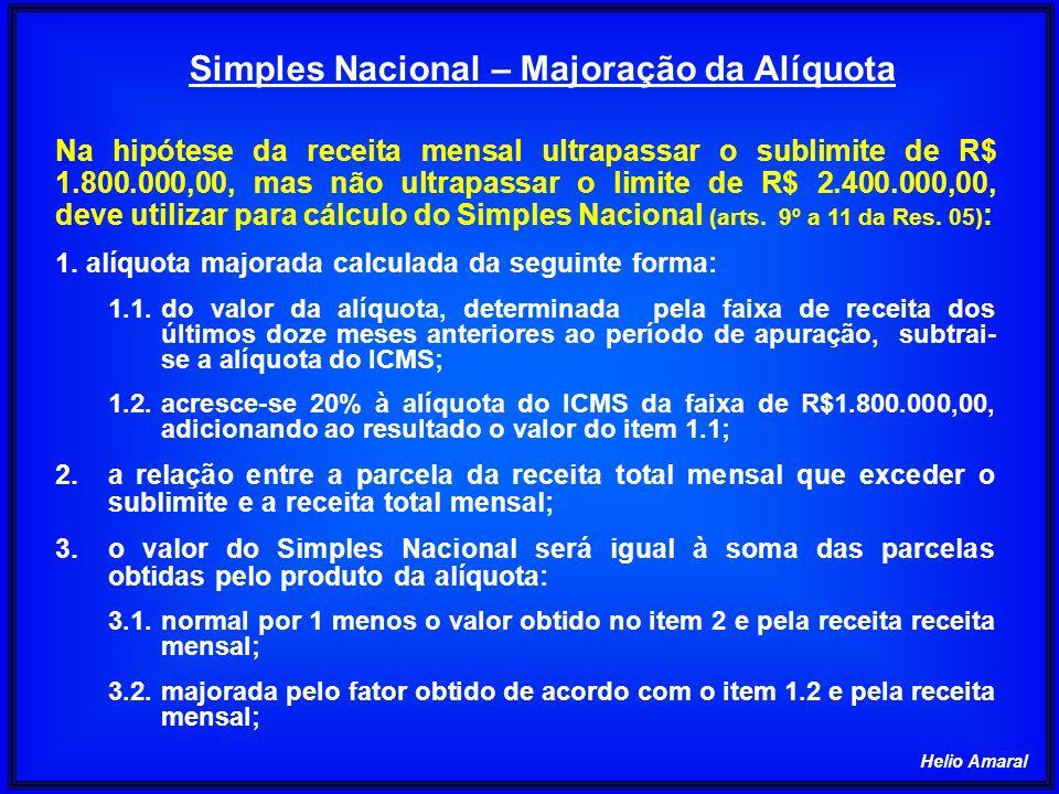 Helio Amaral Na hipótese da receita mensal ultrapassar o sublimite de R$ 1.800.000,00, mas não ultrapassar o limite de R$ 2.400.000,00, deve utilizar