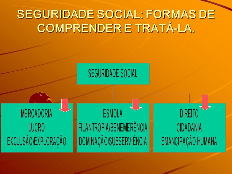 SEGURIDADE SOCIAL: FORMAS DE COMPRENDER E TRATÁ-LA.