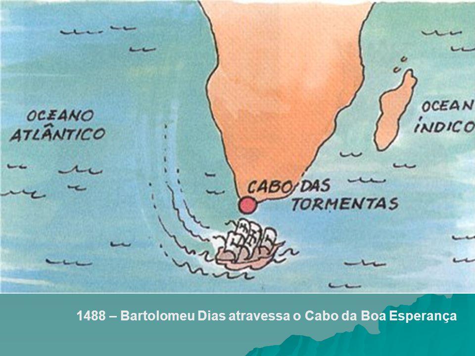 1488 – Bartolomeu Dias atravessa o Cabo da Boa Esperança