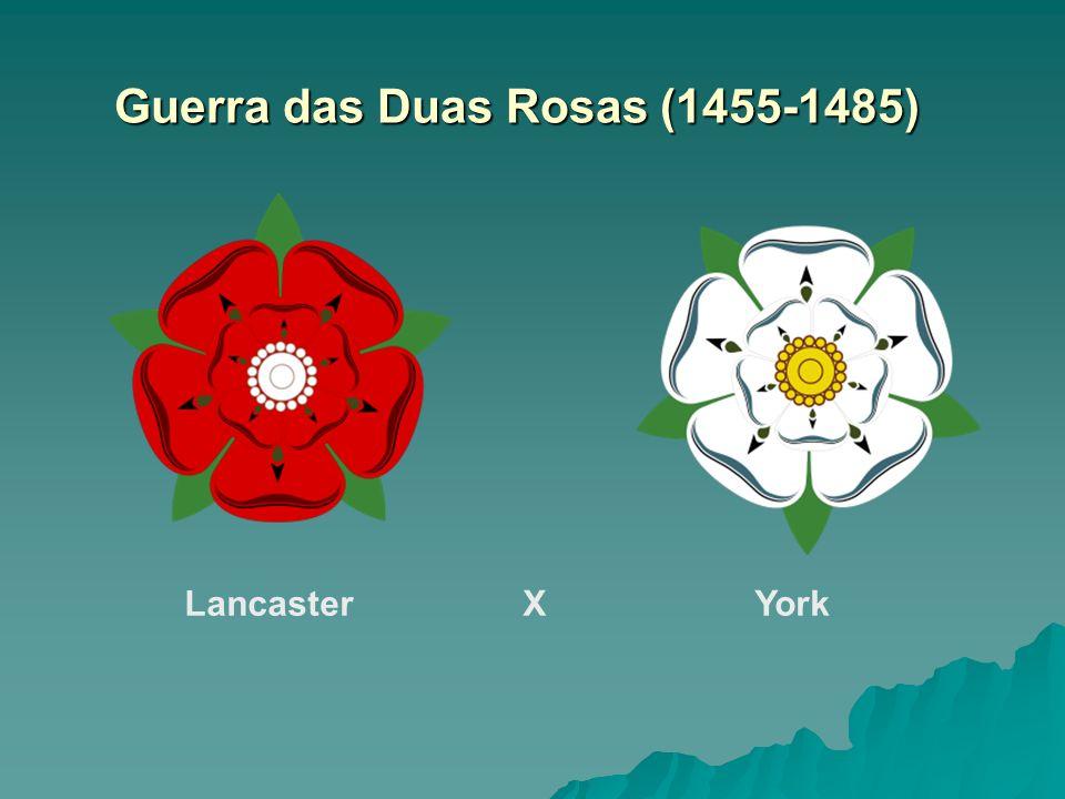 Guerra das Duas Rosas (1455-1485) Lancaster XYork