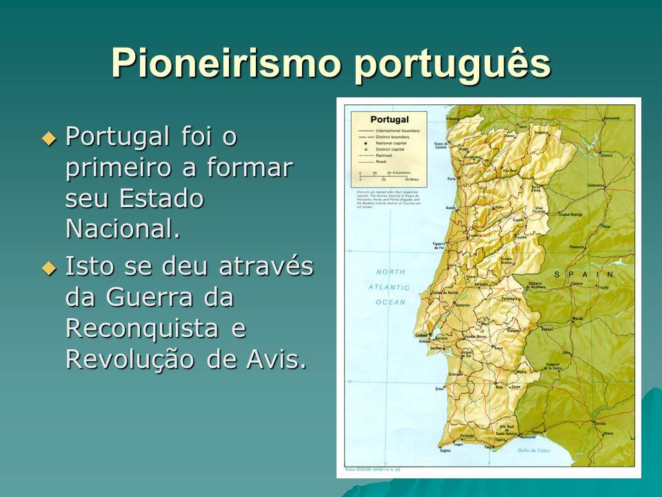 Pioneirismo português Portugal foi o primeiro a formar seu Estado Nacional. Portugal foi o primeiro a formar seu Estado Nacional. Isto se deu através
