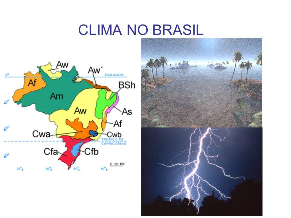 O Tempo e o Clima Tempo: variações constantes das condições atmosféricas.