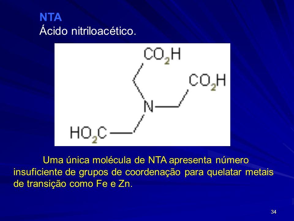 33 O DTPA se coordena a íon Fe(III) através de 4 grupos carboxilatos e 3 nitrogênio de grupos amino, situados nos ápices de uma bipirâmide pentagonal.