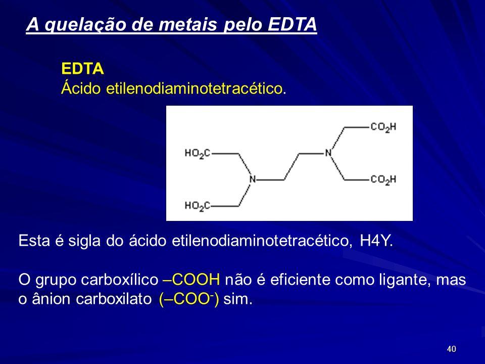39 Gluco heptonato Acido Glucoheptonico. Comercializado como sal de sódio, complexa com eficiência cálcio e ferro em meio fortemente básico. Útil para