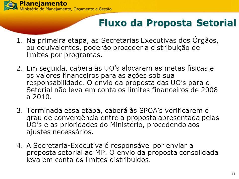 13 Captação da Proposta Setorial Revisão PPA Período 2008-2010 Secretaria de Planejamento e Investimentos Estratégicos Brasília, 17 e 18 de julho de 2
