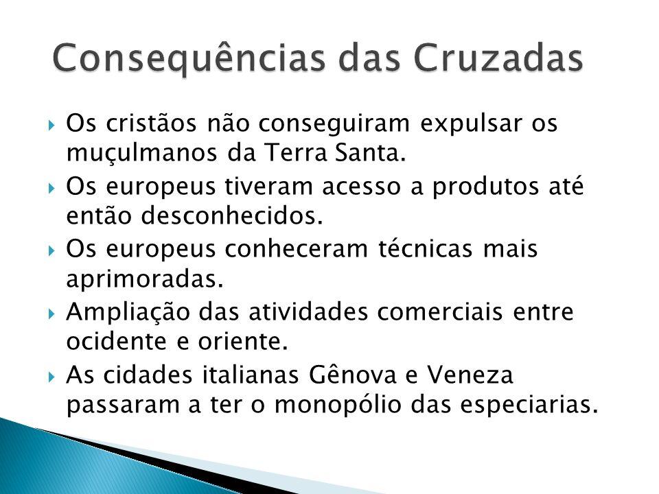 Crescimento das cidades Enfraquecimento dos laços de servidão.