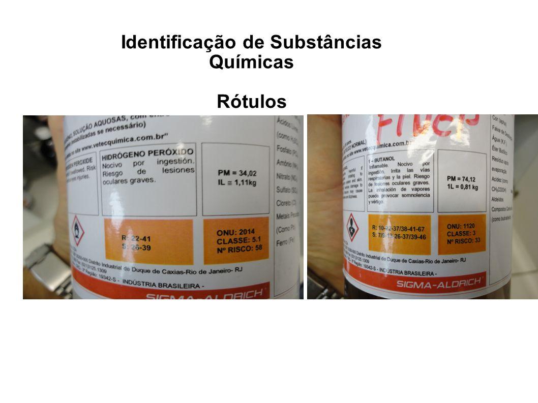 Identificação de Substâncias Químicas Rótulos 2