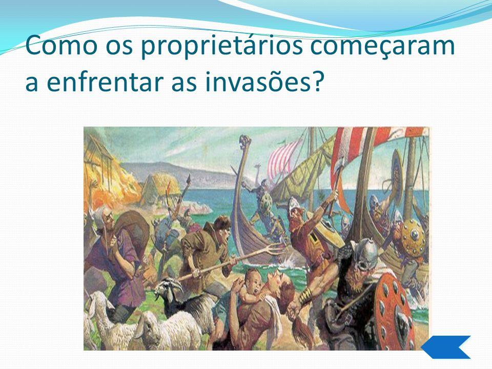 As invasões bárbaras Povos não pertencentes ao império,se aproveitam da sua fragilidade para invadi-lo. A violência das estradas e a diminuição de pro