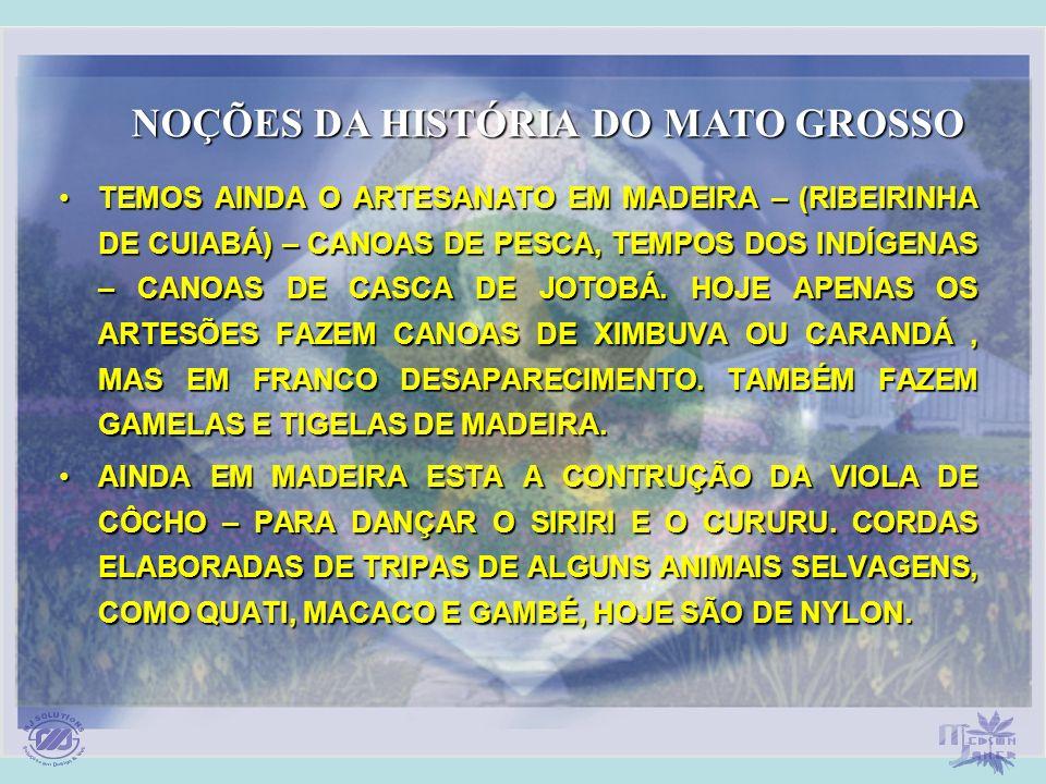 TEMOS AINDA O ARTESANATO EM MADEIRA – (RIBEIRINHA DE CUIABÁ) – CANOAS DE PESCA, TEMPOS DOS INDÍGENAS – CANOAS DE CASCA DE JOTOBÁ. HOJE APENAS OS ARTES