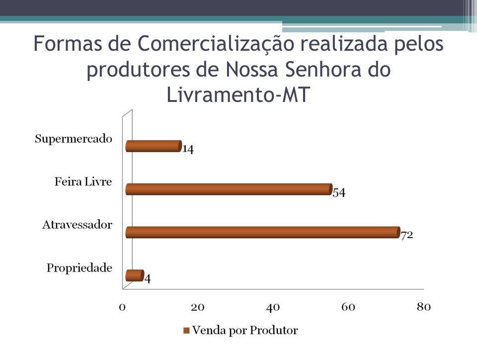 Formas de Comercialização realizada pelos produtores de Nossa Senhora do Livramento-MT
