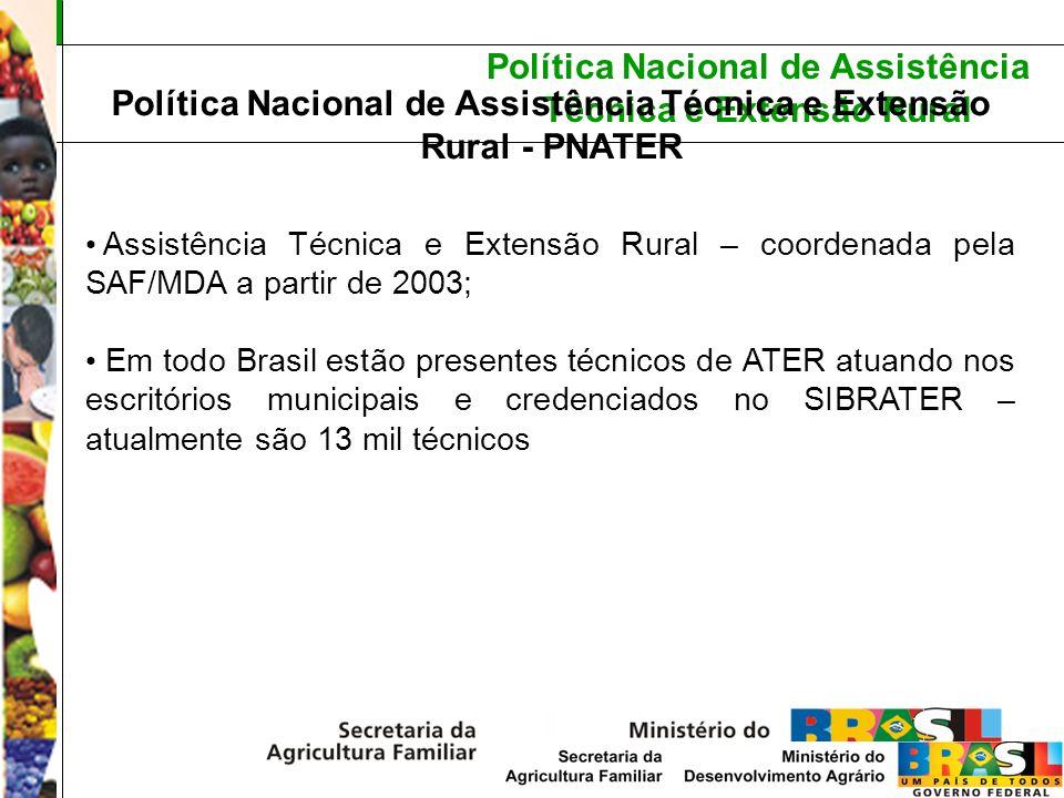 Política Nacional de Assistência Técnica e Extensão Rural Política Nacional de Assistência Técnica e Extensão Rural - PNATER Assistência Técnica e Ext