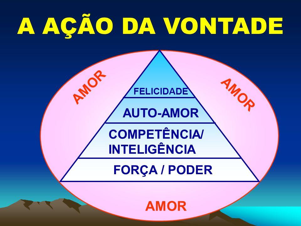 A AÇÃO DA VONTADE FORÇA / PODER COMPETÊNCIA/ INTELIGÊNCIA AUTO-AMOR FELICIDADE AMOR