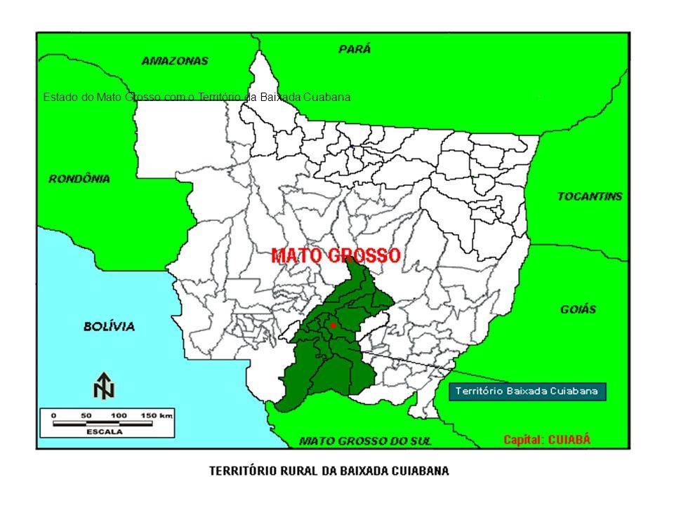 Estado do Mato Grosso com o Território da Baixada Cuabana