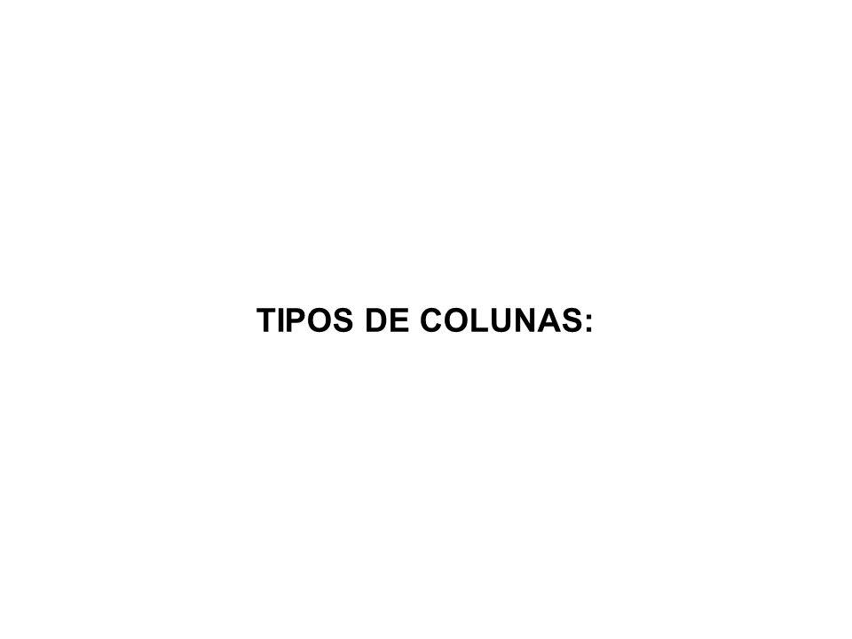TIPOS DE COLUNAS: