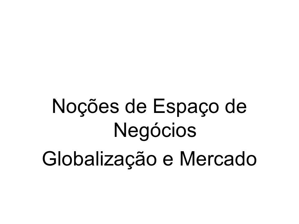 Noções de Espaço de Negócios Globalização e Mercado