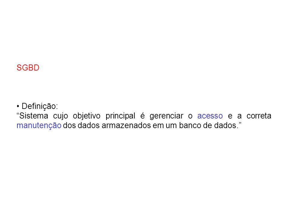 DDL: Data Definition Language - Linguagem de Definição de Dados.