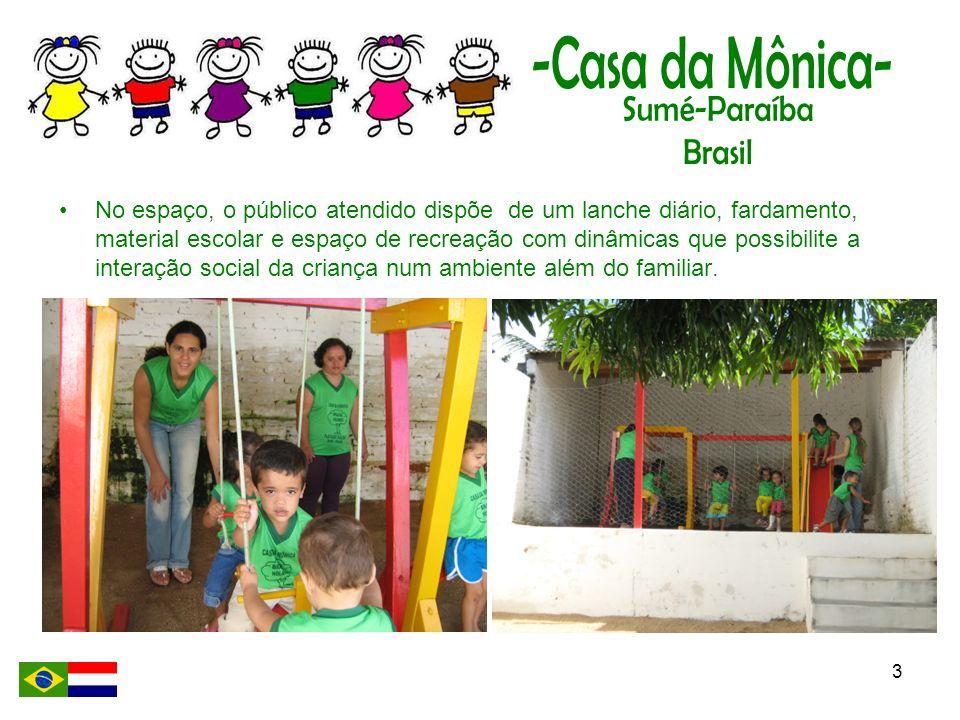 4 O trabalho do Projeto Mônica, substitui a ociosidade que a criança poderia adquirir pelo simples fato de não ter uma iniciação escolar precoce.