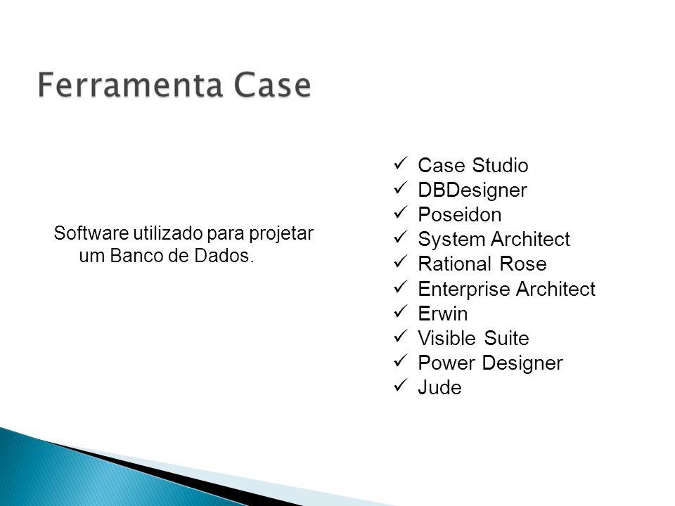 Case Studio DBDesigner Poseidon System Architect Rational Rose Enterprise Architect Erwin Visible Suite Power Designer Jude Software utilizado para pr