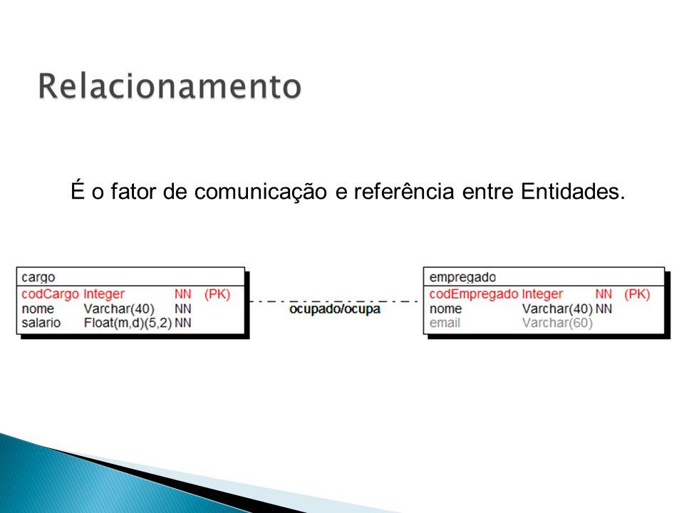 É o fator de comunicação e referência entre Entidades.