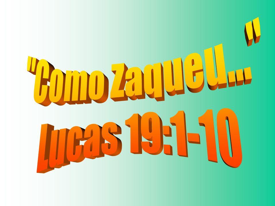 Zaqueu, como toda a multidão, tinha certa expectativa para ver Jesus (v.3) Parece que as expectativas de Zaqueu foram superadas em seu encontro com Jesus.