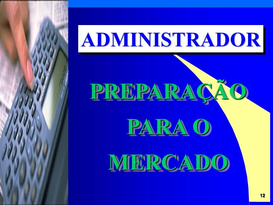 12 PREPARAÇÃO PARA O MERCADO ADMINISTRADORADMINISTRADOR