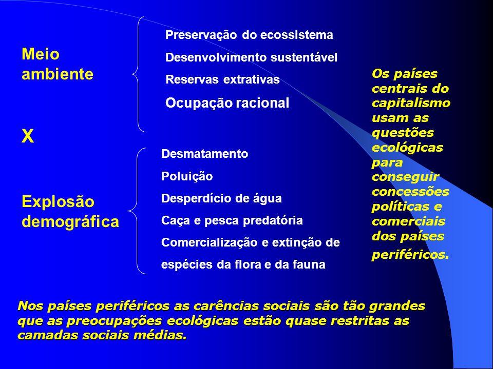 4. Teoria Ecomalthusiana A tese central dessa teoria relaciona diretamente o crescimento populacional com a degradação do meio ambiente. De acordo com