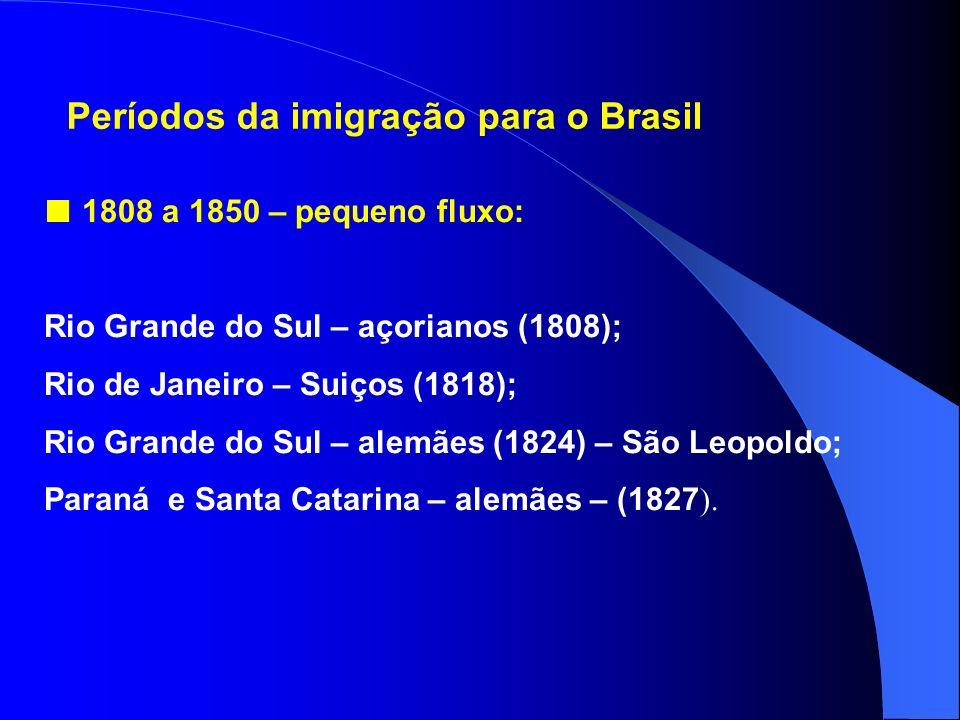 Imigração de europeus para o Brasil Algumas causas: Explosão demográfica; Devastação das terras e impostos elevados; T erras demasiado fracionadas que