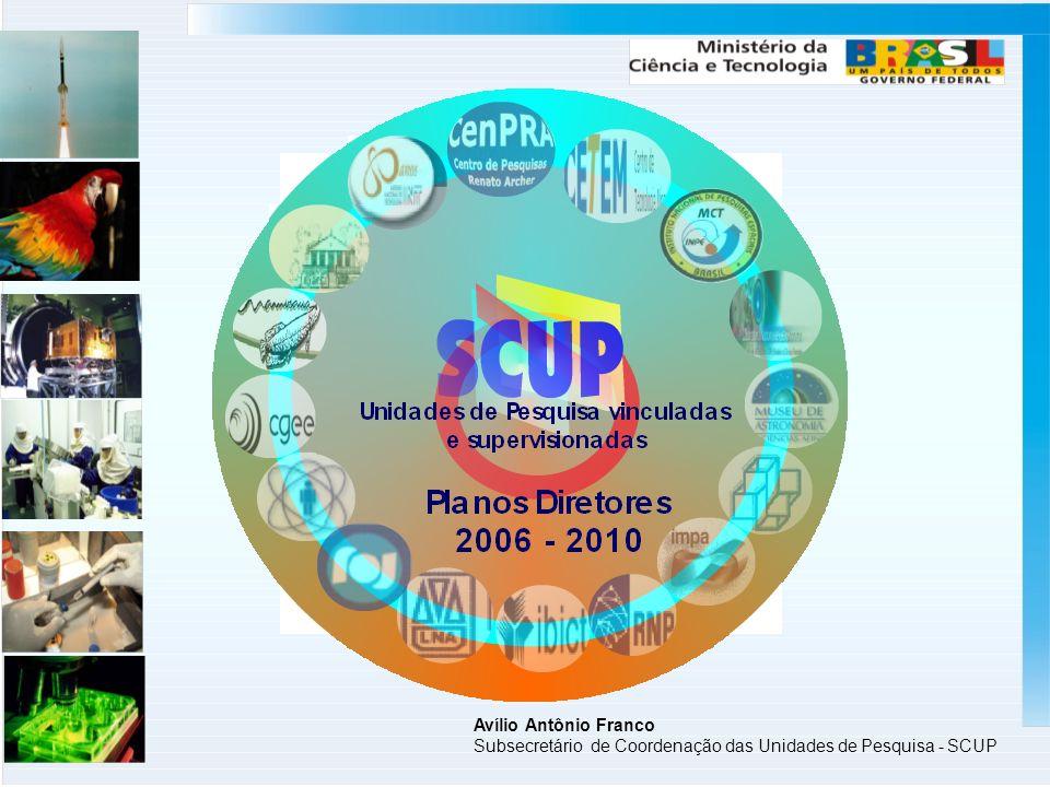 Avílio Antônio Franco Subsecretário de Coordenação das Unidades de Pesquisa - SCUP