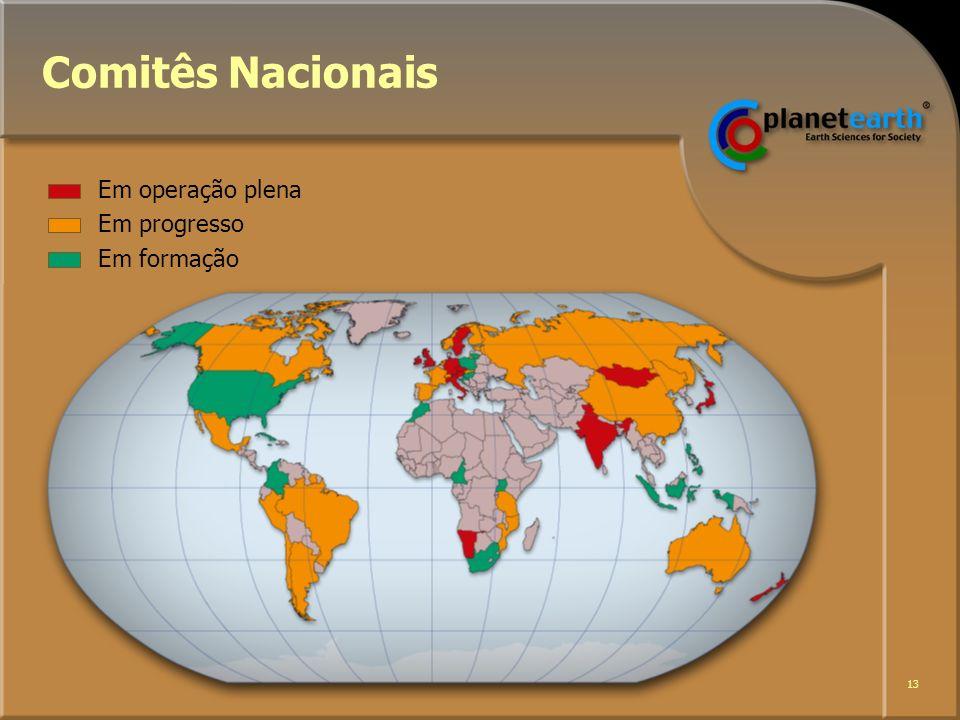 13 Comitês Nacionais Em operação plena Em progresso Em formação