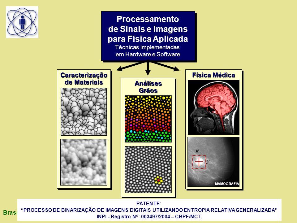 Brasília 12/04/2006 PATENTE: PROCESSO DE BINARIZAÇÃO DE IMAGENS DIGITAIS UTILIZANDO ENTROPIA RELATIVA GENERALIZADA INPI - Registro N o : 003497/2004 – CBPF/MCT.