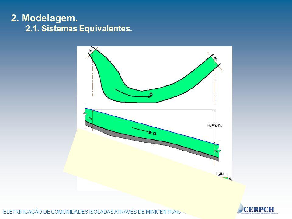 ELETRIFICAÇÃO DE COMUNIDADES ISOLADAS ATRAVÉS DE MINICENTRAIS HIDRELÉTRICAS 2. Modelagem. 2.1. Sistemas Equivalentes.